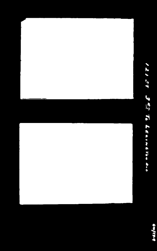 Two white rectangles on a black background