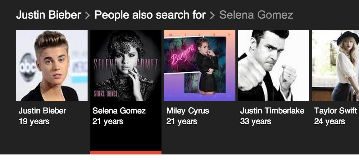Justin Bieber's age