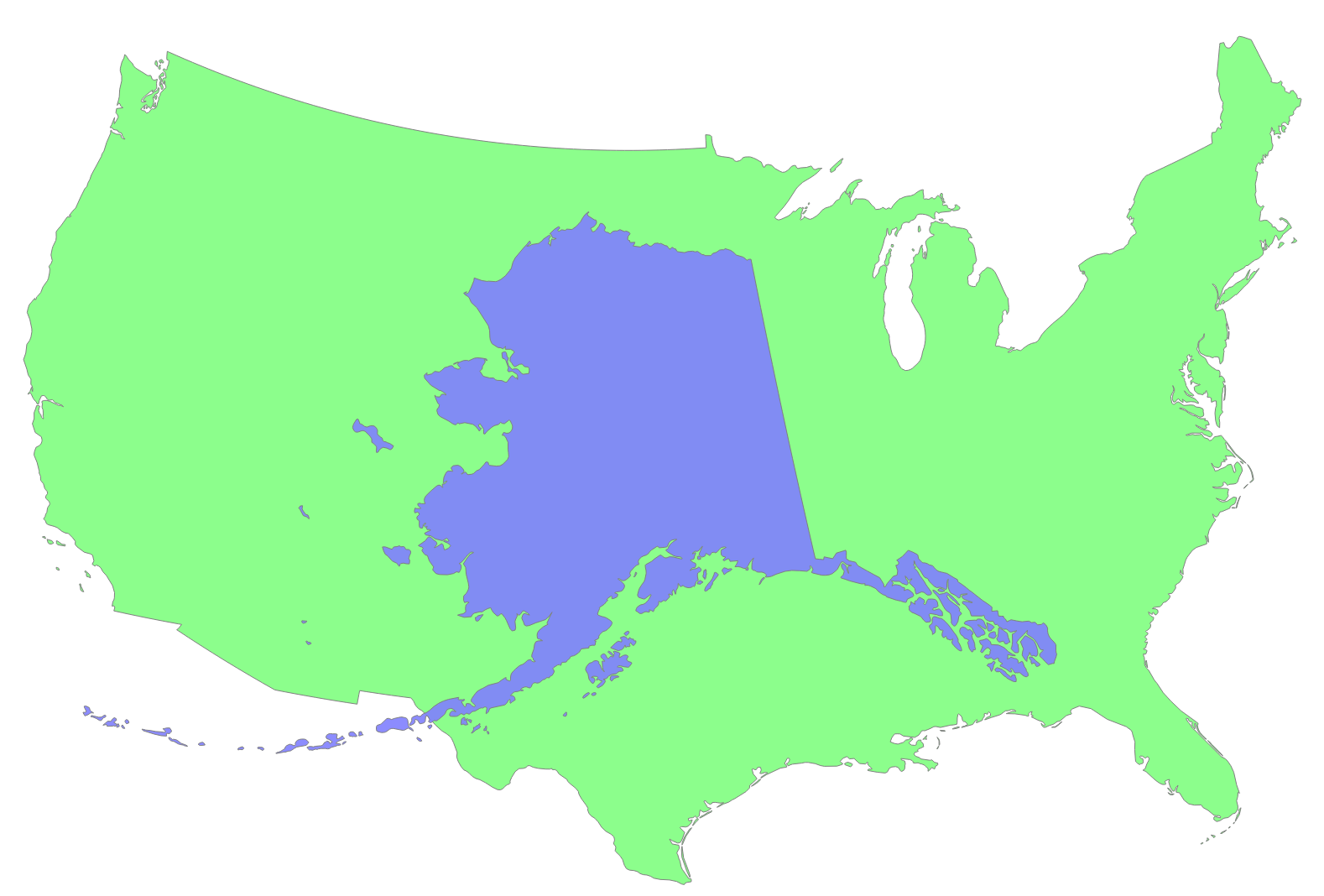 Map Us Democratic Vs Republican Maps Of USA Alaska Time Zone - Alaska us map